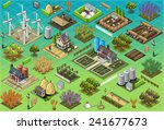 isometric building farm... | Shutterstock . vector #241677673