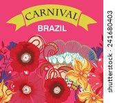 beautiful samba dancer and... | Shutterstock .eps vector #241680403