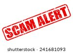 scam alert red stamp text on... | Shutterstock .eps vector #241681093