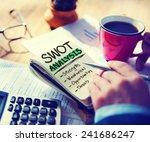 strength weaknesses... | Shutterstock . vector #241686247