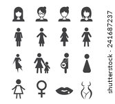 woman icon | Shutterstock .eps vector #241687237