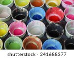 colorful ceramic cups  | Shutterstock . vector #241688377