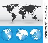 vector map of the world. globe... | Shutterstock .eps vector #241698967