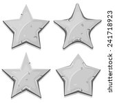 stone stars icons for ui game ...
