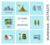 camping flat design. eps 10.... | Shutterstock .eps vector #241741273