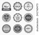 vintage labels template set. ... | Shutterstock .eps vector #241760473
