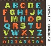 alphabet muti colors in cute... | Shutterstock .eps vector #241763827