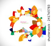 abstract colorful floral shape... | Shutterstock .eps vector #241765783
