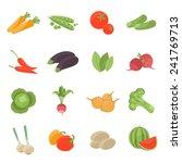 vector vegetarian vector icons... | Shutterstock .eps vector #241769713
