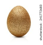 Easter Golden Eggs Isolated On...