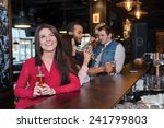 perfect beer party. portrait of ... | Shutterstock . vector #241799803