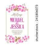 marriage invitation card with... | Shutterstock .eps vector #241806073