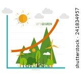 green economy concept   graph... | Shutterstock .eps vector #241834957