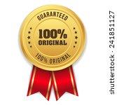 gold hundred percent original... | Shutterstock .eps vector #241851127