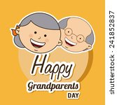 happy grandparents day | Shutterstock .eps vector #241852837