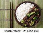 Beef With Broccoli And Rice On...