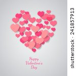 valentines day abstract... | Shutterstock .eps vector #241857913