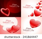 set happy valentine's day... | Shutterstock .eps vector #241864447