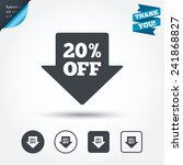20  sale arrow tag sign icon.... | Shutterstock .eps vector #241868827