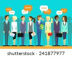 business people group talking... | Shutterstock .eps vector #241877977