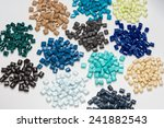 Different Dyed Polymer Pellets...
