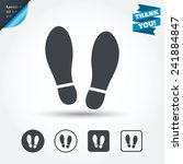 imprint soles shoes sign icon.... | Shutterstock .eps vector #241884847