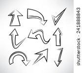 hand drawn arrows set  sketch... | Shutterstock .eps vector #241888843