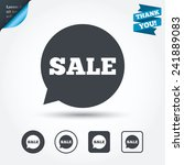 sale sign icon. special offer... | Shutterstock .eps vector #241889083