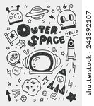 space elements doodles hand... | Shutterstock .eps vector #241892107