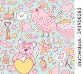 seamless pattern for valentine... | Shutterstock .eps vector #241908283