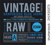 vintage denim typography  t... | Shutterstock .eps vector #241920373