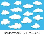 white fluffy clouds on spring... | Shutterstock .eps vector #241936573