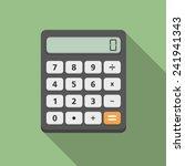 calculator  flat design  vector ... | Shutterstock .eps vector #241941343
