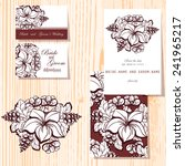 wedding invitation cards with... | Shutterstock .eps vector #241965217