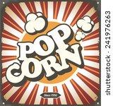 Pop Corn Retro Design Tin Sign...