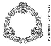 vintage baroque frame scroll... | Shutterstock .eps vector #241976863