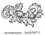 vintage baroque frame scroll... | Shutterstock .eps vector #241978777