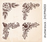 hand drawn vintage design... | Shutterstock .eps vector #241996003