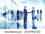 business people walking meeting ... | Shutterstock . vector #241996723