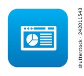 software icon on blue button... | Shutterstock .eps vector #242011543