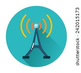 radio tower icon | Shutterstock .eps vector #242015173