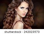 beautiful fashion woman model... | Shutterstock . vector #242023573