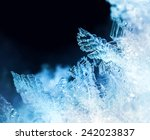Blue Ice Crystal Formations...