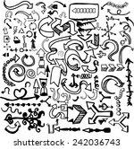 arrows set  hand drawn arrows... | Shutterstock .eps vector #242036743