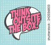 think outside the box ... | Shutterstock .eps vector #242036833