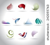 set of abstract web icons ... | Shutterstock .eps vector #242055763