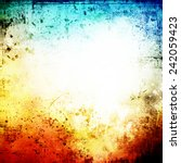 grunge bright background | Shutterstock . vector #242059423