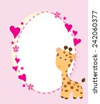 Vector Baby Shower Card With A...