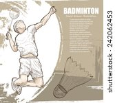 badminton background design.... | Shutterstock .eps vector #242062453