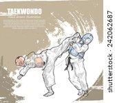 taekwondo background design.... | Shutterstock .eps vector #242062687